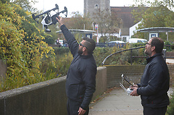 © Licensed to London News Pictures 27/10/2018<br /> Dartford,UK.<br /> Police divers and a drone searching the River Darent in Dartford town centre for missing mum Sarah Wellgreen<br /> Photo credit: Grant Falvey/LNP