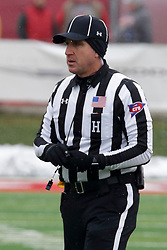 NORMAL, IL - November 17: Linesman: Scott Landy during a college football game between the ISU (Illinois State University) Redbirds and the Youngstown State Penguins on November 17 2018 at Hancock Stadium in Normal, IL. (Photo by Alan Look)