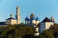 Russie, ensemble architectural de la laure de la Trinité-Saint-Serge à Serguiev Posad, classé Patrimoine Mondial de l'UNESCO// Russia, Sergiyev Posad, Trinity Lavra of St. Sergius, UNESCO World Heritage Site, Golden Ring