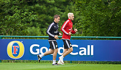 CARDIFF, WALES - Wednesday, June 1, 2016: Wales' Aaron Ramsey during a training session at the Vale Resort Hotel ahead of the International Friendly match against Sweden. (Pic by David Rawcliffe/Propaganda)