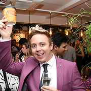 John Galea attend the Oppo party to launch its new Madagascan Vanilla, Sicilian Lemon and Raspberry Cheesecakes, served with Skinny Prosecco at Farm Girls Café, 1 Carnaby Street, Soho, London, UK on July 18 2018.