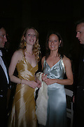 Mrs. Alexander Talbot-Rice and  Christina Macmillan. Connaught Square Squirrel Hunt Inaugural Hunt Ball. Banqueting House, Whitehall. 8 September 2005. ONE TIME USE ONLY - DO NOT ARCHIVE  © Copyright Photograph by Dafydd Jones 66 Stockwell Park Rd. London SW9 0DA Tel 020 7733 0108 www.dafjones.com