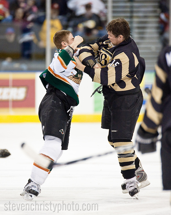 January 11, 2009: The Mississippi Riverkings of the CHL play against the Oklahoma City (OKC) Blazers at the Ford Center in Oklahoma City, OK.
