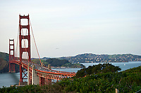 Curve of the Golden Gate Bridge view to Marin County