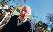 Presidential hopeful Sen. Bernie Sanders makes his way in to a house party in Manchester, N.H., Saturday, May 2, 2015. Sanders discussed important economic issues facing the country. (AP Photo/Cheryl Senter)