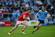25/05/2019, Leinster GAA Football Quarter Final at O`Moore Park, Portlaoise.<br /> Dublin vs Louth<br /> Andy McDonnell (Louth) and Darren Gavin (Dublin)<br /> David Mullen / www.cyberimages.net<br /> ISO: 800; Shutter: 1/1250; Aperture: 4; <br /> File Size: 9.1MB