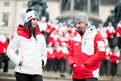 24.01.2018, Hofburg, Wien, Pyeongchang 2018, Vereidigung der Olympia-Mannschaft durch den Bundespräsidenten, im Bild Anna Veith (AUT) und Marcel Hirscher (AUT( // Anna Veith of Austria and Marcel Hirscher of Austria during the swearing-in of the Austrian National Olympic Committee for Pyeongchang 2018 at Hofburg in Vienna, Austria on 2018/01/24, EXPA Pictures © 2018 PhotoCredit: EXPA/ Michael Gruber