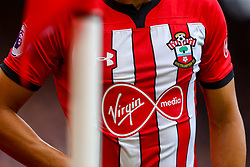 The front of the Southampton Under Armour home shirt with Virgin Media shirt sponsor - Mandatory by-line: Ryan Hiscott/JMP - 12/08/2018 - FOOTBALL - St Mary's Stadium - Southampton, England - Southampton v Burnley - Premier League