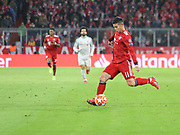 James Rodriguez of Bayern Munich with the ball during the Champions League round of 16, leg 2 of 2 match between Bayern Munich and Liverpool at the Allianz Arena stadium, Munich, Germany on 13 March 2019.