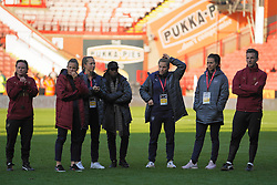 February 23, 2019 - Sheffield, England, United Kingdom - Arsenal players after their loss through penalties..during the FA Women's Continental League Cup Final football match between Arsenal Women and Manchester City Women at Bramall Lane on February 23, 2019 in Sheffield, England. (Credit Image: © Action Foto Sport/NurPhoto via ZUMA Press)