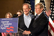 David Boies and Theodore Olson after Judge Vaughn Walker ruled against Prop 8..Photo by Jason Doiy..8-4-2010