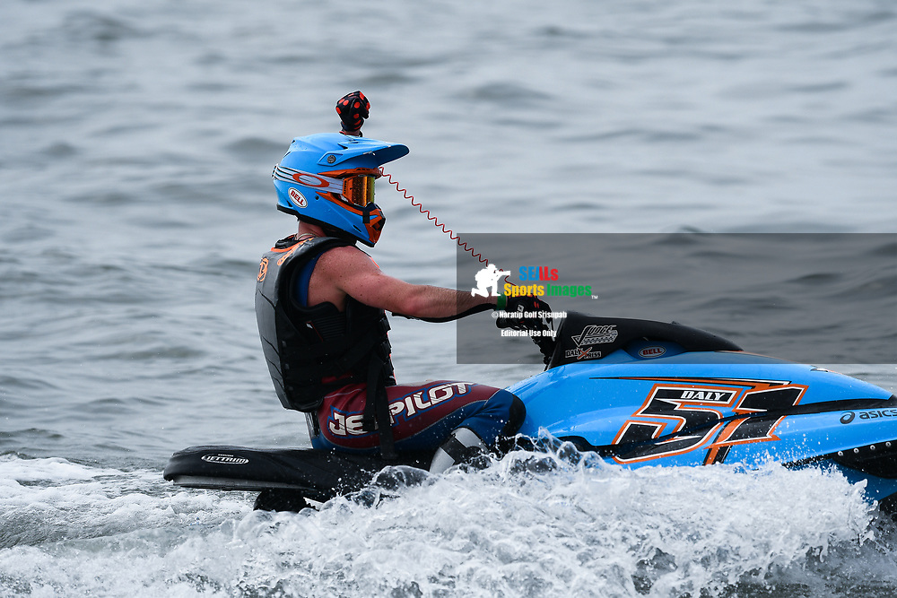 PATTAYA, THAILAND - DECEMBER 09: Christian Daly (51) of USA reaction after winning the Pro Sport GP Moto4 at the Thai Airways International Jet Ski World Cup 2018, Jomtien Beach, Pattaya, Thailand on December 09, 2018. <br /> .<br /> .<br /> .<br /> (Photo by: Naratip Golf Srisupab/SEALs Sports Images)<br /> .<br /> Any image use must include a mandatory credit line adjacent to the content which should read: Naratip Golf Srisupab/SEALs Sports Images