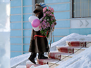 Preparations for a wedding in Yakutsk. Yakutsk is a city in the Russian Far East, located about 4 degrees (450 km) below the Arctic Circle. It is the capital of the Sakha (Yakutia) Republic (formerly the Yakut Autonomous Soviet Socialist Republic), Russia and a major port on the Lena River. Yakutsk is one of the coldest cities on earth, with winter temperatures averaging -40.9 degrees Celsius.