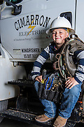 Cimarron Electric lineman Eric Roberts and his family for Oklahoma LIving Magazine cover