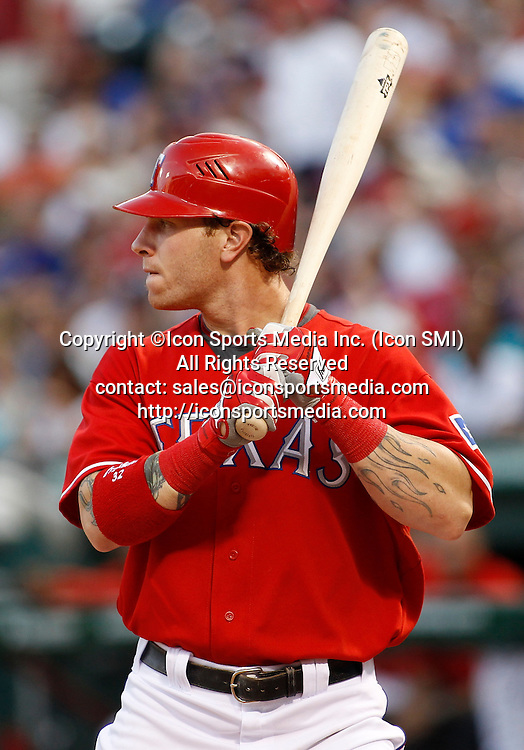 22 July 2010: Texas Rangers outfielder Josh Hamilton (32) at bat during the game between the Los Angeles Angels and the Texas Rangers. The Rangers won 3-2 at the Rangers Ballpark in Arlington, Texas.