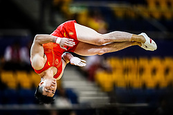 October 29, 2018 - Doha, Qatar - Chaopan Lin of  China   during  Floor, Team final for Men at the Aspire Dome in Doha, Qatar, Artistic FIG Gymnastics World Championships on October 29, 2018. (Credit Image: © Ulrik Pedersen/NurPhoto via ZUMA Press)