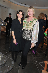 Left to right, ESTHER FREUD and KITTY ALDRIDGE at The Great Initiative event in association with jewellers Boodles held at The Corinthia Hotel, London on 6th November 2012.