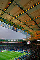 Photo: Glyn Thomas.<br />Italy v France. FIFA World Cup 2006 Final. 09/07/2006.<br /> The setting sun illuminates the roof in Berlin's Olympic Stadium.