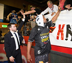 17.05.2015, Walfersamhalle, Kapfenberg, AUT, ABL, ece Bulls Kapfenberg vs magnofit Guessing Knights, 3. Semifinale, im Bild Jubel von Guessing nach dem Sieg gegen Kapfenberg // during the Austrian Basketball League, 3th semifinal, between ece Bulls Kapfenberg and magnofit Guessing Knights at the Sportscenter Walfersam, Kapfenberg, Austria o00000n 2015/05/17, EXPA Pictures © 2015, PhotoCredit: EXPA/ Dominik Angerer