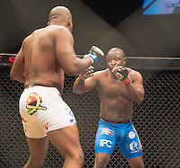 JOHANNESBURG, SOUTH AFRICA - DECEMBER 11: Patrick Luindula vs. Didier Nyembwe - middleweight - during the EFC Worldwide 46 Fight Night at Carnival City Casino on 12 December 2015 in Johannesburg, South Africa. (Photo by Anton Geyser/ EFC Worldwide)