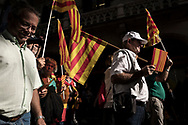Unionists rally in Barcelona against  plans by Catalan separatist government to declare independence. Barcelona, 08 October 2017.