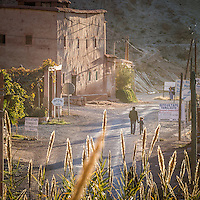 Small villages and rural life in Morocco's Rose  Valley.