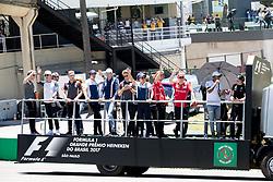 November 12, 2017 - Sao Paulo, Sao Paulo, Brazil - Drivers parade before the Formula One Grand Prix of Brazil at Interlagos circuit, in Sao Paulo, Brazil on November 12, 2017. (Credit Image: © Paulo Lopes via ZUMA Wire)