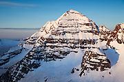 Close-up shot of North Maroon Peak, Elk Mountains, Colorado.