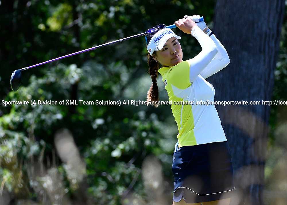 OLYMPIA FIELDS, IL - JULY 01: So Yeon Ryu of South Korea plays the ball from the fifth tee during the third round of the 2017 KMPG PGA Championship at Olympia Fields on July 1, 2017 in Olympia Fields, Illinois. (Photo by Quinn Harris/Icon Sportswire)