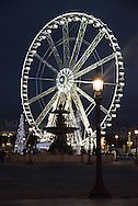 France. Paris. 8th district. giant ferris wheel on  Concord square,  /  place de la Concorde,