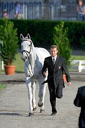 Dibowski Andreas (GER) - Ginger<br /> European Championship Eventing - Pau 2001<br /> Photo © Dirk Caremans