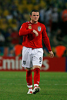 Photo: Glyn Thomas.<br /> Sweden v England. FIFA World Cup 2006. 20/06/2006.<br /> <br /> England's Wayne Rooney is angry to be substituted.
