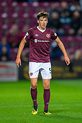 Aaron Hickey (#51) of Heart of Midlothian FC during the Betfred Scottish Football League Cup quarter final match between Heart of Midlothian FC and Aberdeen FC at Tynecastle Stadium, Edinburgh, Scotland on 25 September 2019.