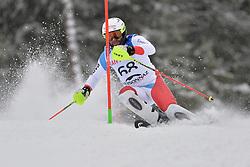 BRUEGGER Michael LW4 SUI at 2018 World Para Alpine Skiing World Cup slalom, Veysonnaz, Switzerland