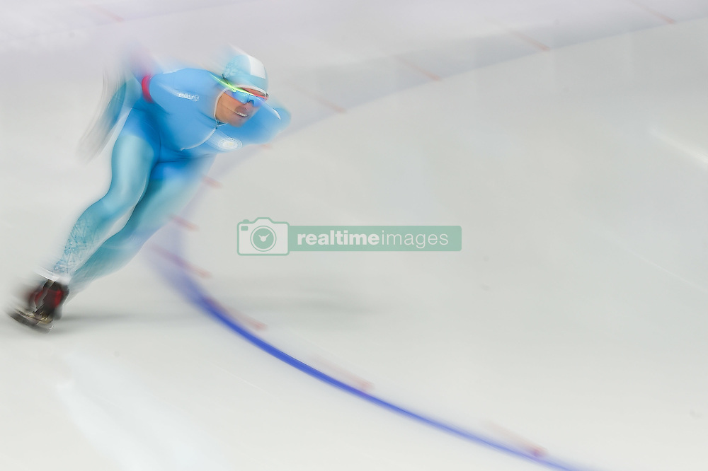 February 23, 2018 - Pyeongchang, Gangwon, South Korea - Fedor Mezentsev of  Kazakhstan in 1000 meter speedskating at winter olympics, Gangneung South Korea on February 23, 2018. (Credit Image: © Ulrik Pedersen/NurPhoto via ZUMA Press)