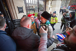 © Licensed to London News Pictures. 07/01/2019. London, UK. Conservative MP and Remain campaigner ANNA SOUBRY is heckled by a group of Brexit supporters as she returns to the Houses of Parliament in London after appearing on broadcast television programs on College Green, Westminster. Photo credit:  George Cracknell/LNP