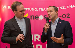 22.01.2018, Innsbruck, AUT, Landtagswahl in Tirol, Wahlkampfauftakt der Tiroler NEOS, im Bild v.l.: Landessprecher Dominik Oberhofer und Bundesvorsitzender Matthias Strolz // during the start of the State election in Tyrol, election campaign of the Tyrolean NEOS in Innsbruck, Austria on 2018/01/22. EXPA Pictures © 2018, PhotoCredit: EXPA/ Jakob Gruber