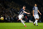 `wb11 takes a free kick during the Premier League match between West Bromwich Albion and Southampton at The Hawthorns, West Bromwich, England on 3 February 2018. Picture by Dennis Goodwin.