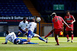 Steve Mounie of Huddersfield Town fires a shot at goal  - Mandatory by-line: Matt McNulty/JMP - 16/07/2017 - FOOTBALL - Gigg Lane - Bury, England - Bury v Huddersfield Town - Pre-season friendly