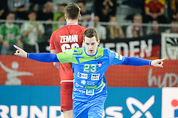 Miha Zarabec of Slovenia during handball match between National teams of Slovenia and Czech Republic on Day 7 in Main Round of Men's EHF EURO 2018, on January 24, 2018 in Arena Varazdin, Varazdin, Croatia. Photo by Mario Horvat / Sportida