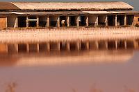 Il complesso produttivo delle saline è situato nel comune italiano di Margherita di Savoia (nome dato dagli abitanti in onore alla regina d'Italia che molto si adoperò nei confronti dei salinieri) nella provincia di Barletta-Andria-Trani in Puglia. Sono le più grandi d'Europa e le seconde nel mondo, in grado di produrre circa la metà del sale marino nazionale (500.000 di tonnellate annue).All'interno dei suoi bacini si sono insediate popolazioni di uccelli migratori e non, divenuti stanziali quali il fenicottero rosa, airone cenerino, garzetta, avocetta, cavaliere d'Italia, chiurlo, chiurlotello, fischione, volpoca..Capanonne in disuso riflesso nelle acqua del bacino.