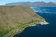 Bílldudalur séð til norðvesturs, Vesturbyggð / Bildudalur viewing northwest, Vesturbyggd.