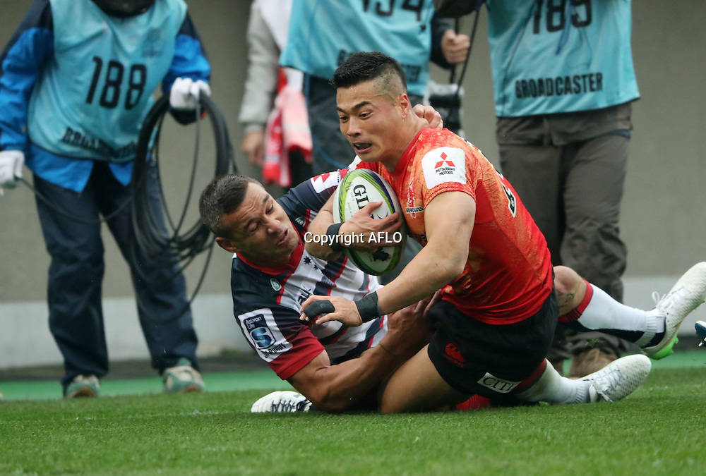 Akihito Yamada (Sunwolves),<br /> MARCH 19, 2016 - Rugby : Super Rugby match between Sunwolves 9-35 Melbourne Rebels at Prince Chichibu Memorial Stadium in Tokyo, Japan. (Photo by AFLO)