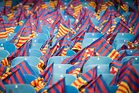 FC Barcelona's flags before Copa del Rey (King's Cup) Final between Deportivo Alaves and FC Barcelona at Vicente Calderon Stadium in Madrid, May 27, 2017. Spain.<br /> (ALTERPHOTOS/BorjaB.Hojas)