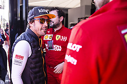 February 26, 2019 - Montmelo, Barcelona, Spain - Fernando Alonso fom Spain of Mclaren F1 Team - Renault MCL34 portrait visiting the Ferrari hospitality with his manager Luis Garcia Abadduring the Formula 1 2019 Pre-Season Tests at Circuit de Barcelona - Catalunya in Montmelo, Spain on February 26. (Credit Image: © Xavier Bonilla/NurPhoto via ZUMA Press)