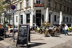 Restaurant on Kollwitzplatz in Prenzlauer Berg Berlin Germany