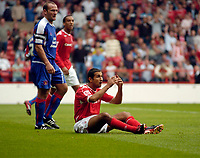 Photo: Leigh Quinnell.<br /> Nottingham Forest v Carlisle United. Coca Cola League 1. 16/09/2006. Forests Jack Lester can't belive he has not been given a penalty.