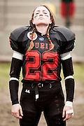 Cernusco SN, 28 aprile 2013 - Prima partita del primo Campionato Italiano di Football Americano Femminile. Furie  - Tempeste Sirene. 22 - Giorgia Pezza