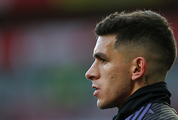 Lucas Torreira of Arsenal during the warm up - Mandatory by-line: Arron Gent/JMP - 18/01/2020 - FOOTBALL - Emirates Stadium - London, England - Arsenal v Sheffield United - Premier League