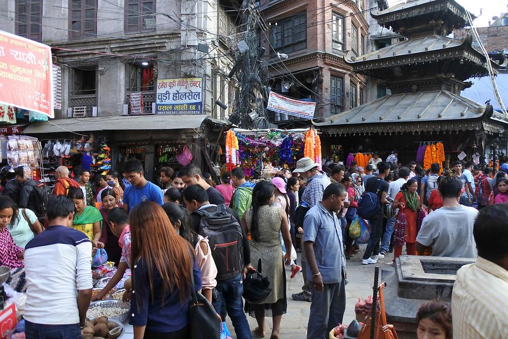 General market scene in Kathmandu, Nepal